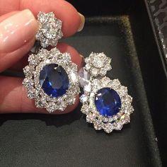 Sapphire & Diamond Earrings #Bjc #MariaGaspari