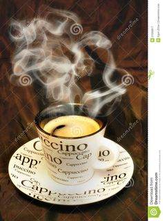 Hot cappuccino coffee #Coffee #Cappuccino #BuffaloBucksCoffee