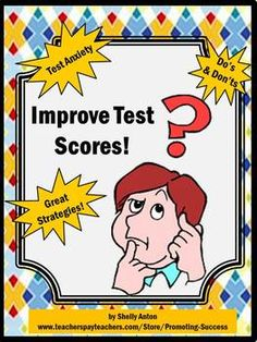 In this 23 page teaching unit, you will receive ideas for:  Helping students deal with test anxiety;  What to do before, during and after the test;  Test taking do's and don'ts;  Test taking questionnaire;  Test question strategies; and  Several study sheets which are great printables to help students prepare for the next test!