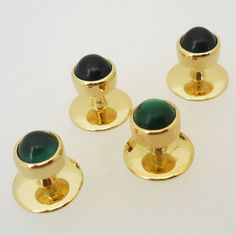 9 carat gold shirt studs: can be set with a wide variety of stones Bespoke Jewellery, Signet Ring, Carat Gold, Wedding Groom, Peridot, Cool Shirts, Jewelry Collection, Studs, Cufflinks