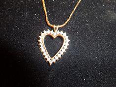 Monet  Rhinestone Heart Necklace by alicefaysfancies on Etsy, $12.00