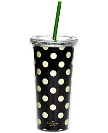 kate spade new york Opaque Thermal Tumbler with Straw