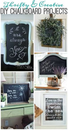 DIY Chalkboard Ideas for Home Decor and More