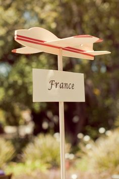 Paper plane table numbers