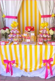 Bright Colors - baby shower...Table skirt idea