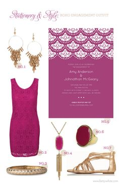 Stationery & Style: Boho Engagement Outfit / Flights of Fancy / click for sources