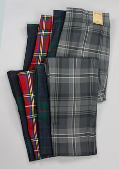 Kilt Society Tartan Trews - menswear but still. I nice pair of trouser in Clan Gordon. Mens Dress Pants, Plaid Pants, Tartan Plaid, Casual Pants, Tweed, Black Tie Attire, Tartan Fashion, Designer Suits For Men, Mein Style