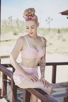 079449fe156d2 Miss Rockabilly Ruby wears our Olivia Lingerie for this moody  desert-inspired shoot by Silver amp