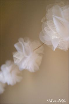 """Zoom Garland """"Fleur des Songes"""" Organza and tulle.Oscar et Lila  New product,winter 12/13"""