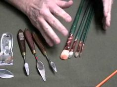 http://www.paintingforbeginners.net sign up for our free weekly paintng tips for beginners. this tip is on oil painting brushes by artist and master teacher Daniel Edmondson. This video entitled Oil painting instruction-Painting for beginners on brushes part 1 contains valuable basic information that an artist must know to succeed in painting. A...