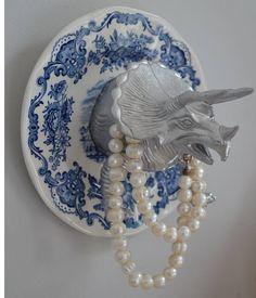 Fine China, Godzilla, Tea Party, Wall Decor, Tableware, Etsy, Porte Bijoux, Handmade Gifts, Unique Jewelry