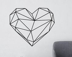 Geometric Bear Wall Decal, Geometric Animals Home Decor, Bear Monochrome Decor Living Room, Geometric Art, Australian Made - Origami Geometric Bear, Geometric Drawing, Geometric Wall, Geometric Heart Tattoo, Geometric Origami, Origami Design, Vinyl Wall Stickers, Wall Decals, Wall Art