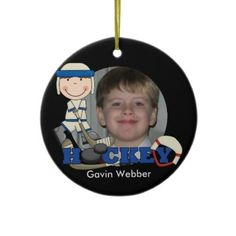 Blue Hockey Player Photo Ornament by christmasshop   Click on photo to purchase. Check out all current coupon offers and save! http://www.zazzle.com/coupons?rf=238785193994622463&tc=pin