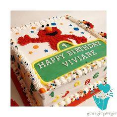 1 year old Elmo birthday cake