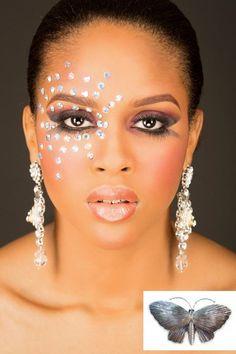 #carnival #costumes #Trinidad #Tobago #party #dance #makeup #jewels