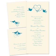 Love in the Air - Ecru - Separate and Send Invitation - Ann's Bridal Bargain
