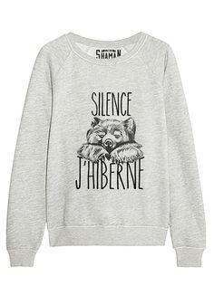 "Sweat ""Silence j'hiberne"""