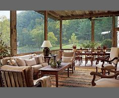 I LOVE this porch and its surroundings