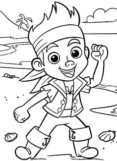 Kids Coloring Pages Middot Pirate Printable Jake And The Never Land Pirates On Book