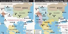 The Balkan before and after the Balkan Wars of 1912-1913