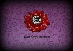 Red Skull Hair Clip by MissKittysBootique on Etsy, $3.50