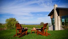 Wine Lodge - one of our favourite places in region, because of the people & view Sit Back And Relax, Wine Drinks, Picnic Table, Wine Country, Places To Eat, Fields, Tours, House Styles, People