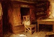 "New artwork for sale! - "" A Scottish Interior The Box Bed 1874 by Farquharson Joseph "" - http://ift.tt/2zIekE0"