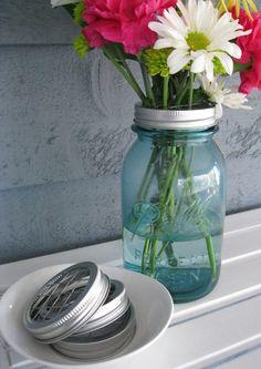 Mason Jar Flower Frog Vase