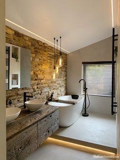 Brick Bathroom, Master Bathroom, Cozy Bathroom, Rustic Bathrooms, Chic Bathrooms, Bathroom Design Luxury, Interior Design Kitchen, Best Bathroom Vanities, Bathroom Goals