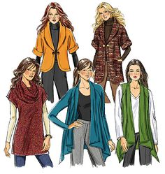 Butterick 5528 from Butterick patterns is a Misses' Cardigan, Tunic and Neck Ring sewing pattern