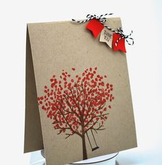 A Sheltering Tree stamp, Valentine's Thank you card, Stamping' Up! #banners, #thankyoucard, #handmadecard, #stampinup,