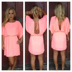 Neon Pink Empress Mini Dress on Wanelo
