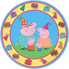 Peppa Pig Paper Dessert Plates 7in 8ct | Wally's Party Factory #peppa #pig #plates