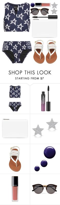 """Star Bikini Set"" by wolfiexo on Polyvore featuring Perfect Moment, Charlotte Russe, Maison Margiela, Diamond Star, Topshop, Chanel and Illesteva"