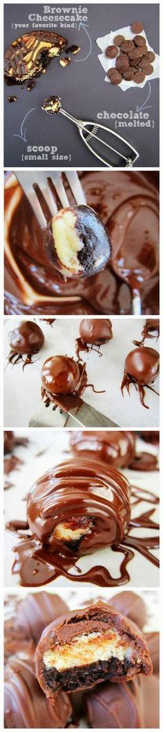 How To Fudge Brownie Cheesecake Bites