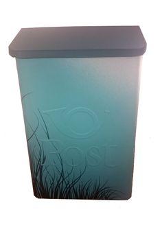 Postkasse i blått og svart design! www.hjertehjort.no Nye, Canning, Home Canning, Conservation