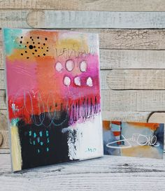 Original Abstract Art With Love on canvas 5 x 7 | Etsy by Jodi Ohl#abstractart #acrylicpainting #gift #originalart #smallart Graffiti Writing, Canvas 5, Small Art, Mixed Media Art, Note Cards, Original Art, Abstract Art, Artsy, House Landscape