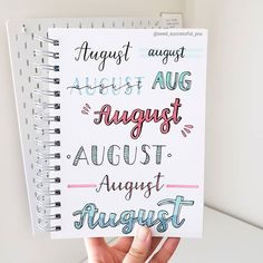 Best Bullet Journal Fonts and Headers for Every Month - The Smart Wander Bullet Journal Headings, Bullet Journal Banner, Journal Fonts, Bullet Journal Notebook, Bullet Journal Ideas Pages, Bullet Journal Inspiration, January Bullet Journal, Bullet Journal School, Bullet Journal Calendrier