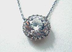 * * * Judith Williams Silberkette mit Zirkonia-Anhänger * * * Judith, Pendant Necklace, Diamond, Ebay, Jewelry, Watches, Jewlery, Jewerly, Schmuck
