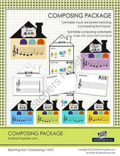 Composing Package product from MyTeachingAide on TeachersNotebook.com
