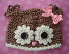 this version of an owl hat is really cute