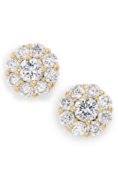 The crystals on these Kate Spade flower stud earrings shimmer and shine so brilliantly.