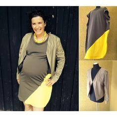 """""""dress olive/yellow + jacket khaki"""" by petra-eigenwerk on Polyvore jacket khaki http://upper-palatinate-rocks.blogspot.de/2014/06/women-2014-short-jacket-khaki-shiny-gold.html jerseydress olive/yellow http://upper-palatinate-rocks.blogspot.de/2014/06/women-2014-jersey-dress-oliveyellow.html"""