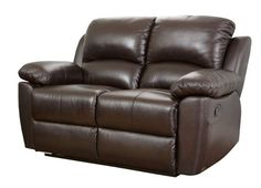 Abbyson Living Toscana Leather Reclining Loveseat Toscana Leather Reclining Love Brown Furniture Seating Loveseats