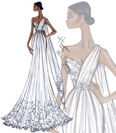 Hayden Williams Fashion Illustrations | Bridal Couture 2014 by Hayden Williams…