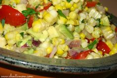 Sweet Corn, Tomato, and Avocado Salad - fresh and delicious!