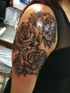 #tattoo #roses #shouldertattoo #blackandwhite