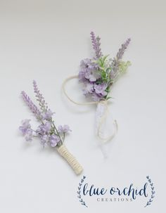 Lavender Boutonniere Lavender and Wildflower Boutonniere