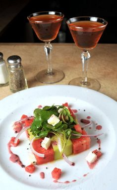 A watermelon, cucumber and feta salad from The West End Gastro Club