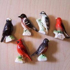 Six Vintage Ceramic Birds From Tenderleaf Tea Ceramic Birds, Birds 2, Vintage Ceramic, Collections, Ceramics, Tea, Ceramica, Pottery, Ceramic Art